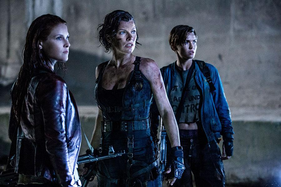 """(L-R) Ali Larter, Milla Jovovich and Ruby Rose in a scene from the movie """"Resident Evil The Final Chapter"""" directed by Paul W.S. Anderson. (Ilze Kitshoff/Sony Pictures/TNS)"""