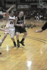 EDC girls basketball vs Shaley 3/8/13
