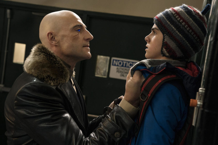 Mark Strong (left) plays Dr. Sivana and Jack Dylan Grazer (right) portrays Freddy in
